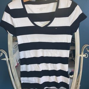Navy/White striped Tommy Hilfiger tee